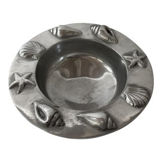 Pewter Seashell Bowl For Sale