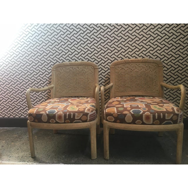 Contemporary Henredon Cane Chairs - A Pair For Sale - Image 3 of 6