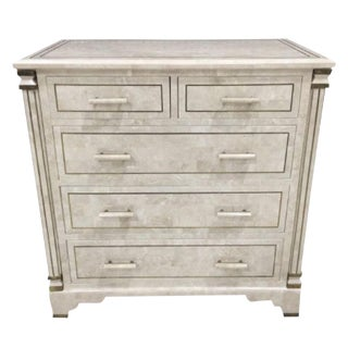 Maitland-Smith Tessellated Stone Chest For Sale