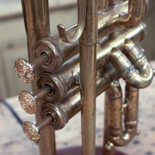 Vintage Brass Trumpet Lamp - Image 4 of 7