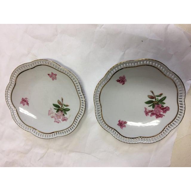 Bavaria Schumann Porcelain Floral Plates - Set of 3 For Sale - Image 4 of 9
