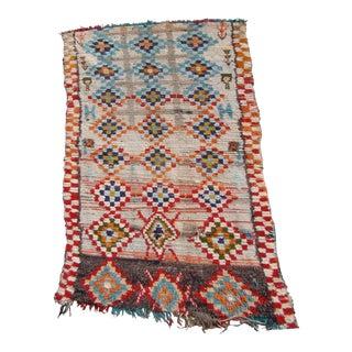 Vintage Moroccan Berber Wool Rug - 3′4″ × 6′7″ For Sale