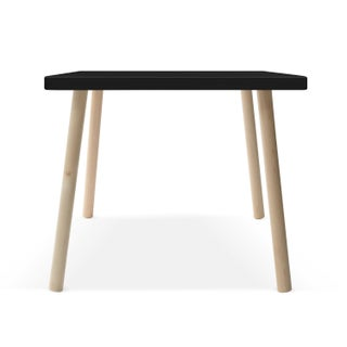 "Tippy Toe Small Square 23.5"" Kids Table in Maple With Black Finish Accent Preview"