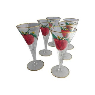Apple Liqueur Glasses - Set of 6 For Sale