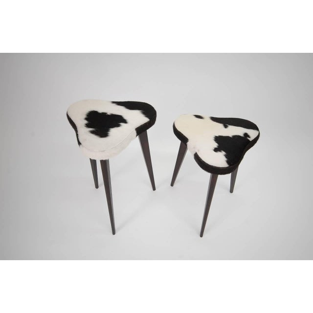 Mid-Century Modern Pair of Small Nesting Stools From France For Sale - Image 3 of 7