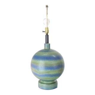 Vintage Mid-Century Ceramic Pottery Lamp For Sale