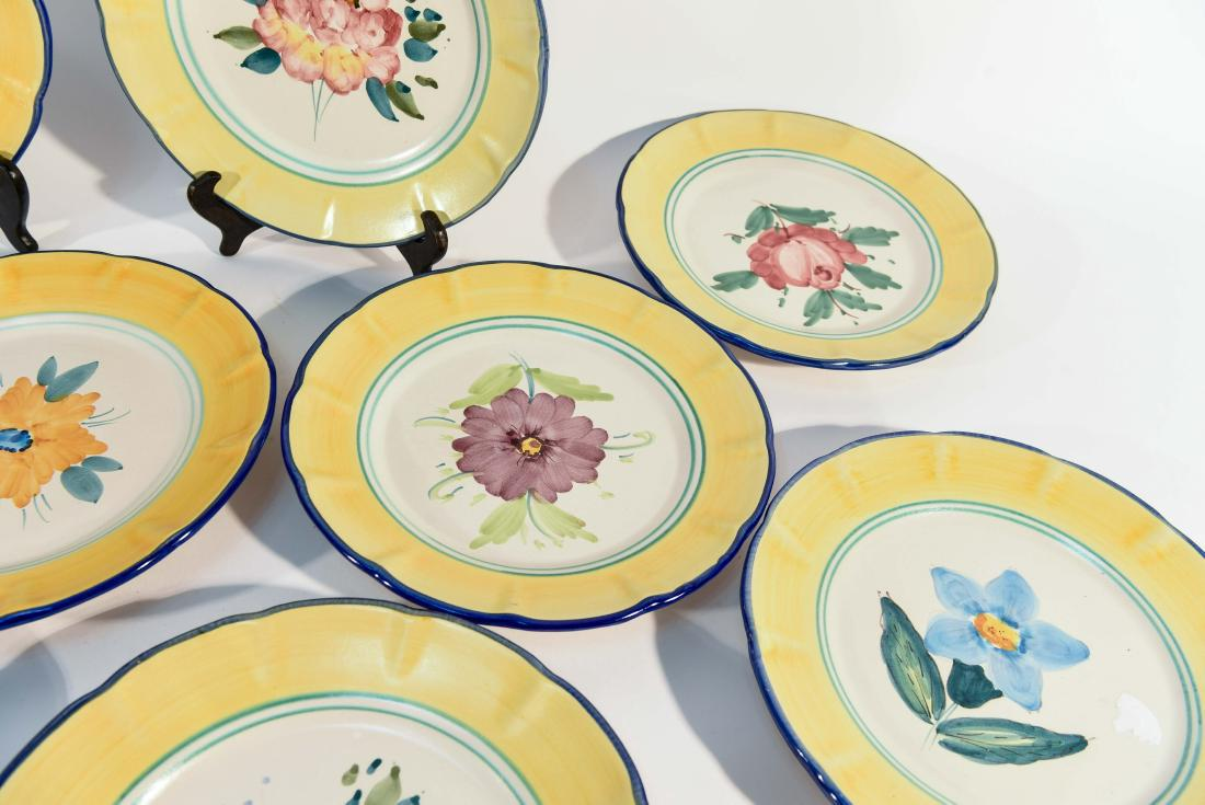 Gump\u0027s San Francisco Italian Hand Painted Dinner Plates- Set of 8 - Image 3 of  sc 1 st  Chairish & Gump\u0027s San Francisco Italian Hand Painted Dinner Plates- Set of 8 ...