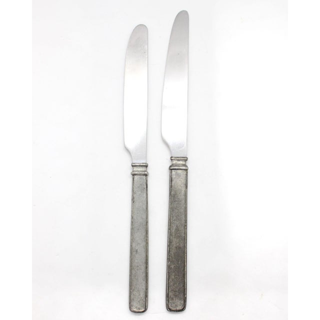 """Pewter handled and stainless steel bladed knives from the """"Gabriella"""" collection by Match. All Match pewter is cast and..."""