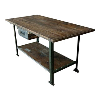 1930's American Industrial Work Table