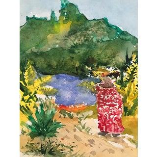 Impressionists Landscape Watercolor 1990s For Sale