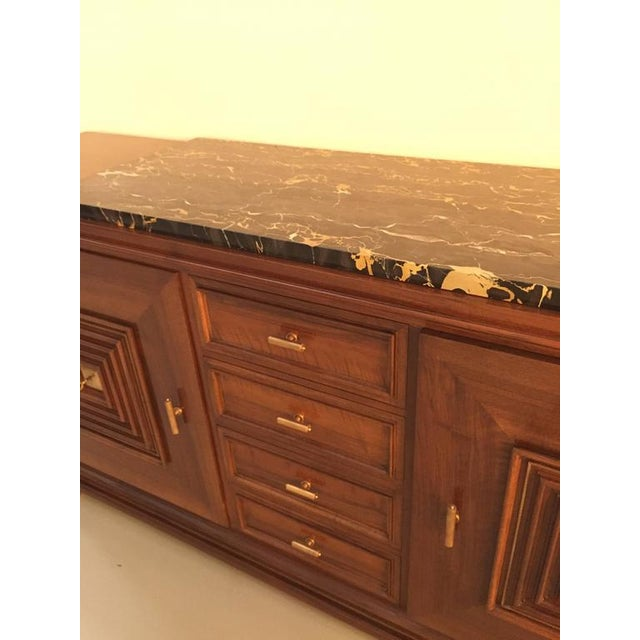 Art Deco French Art Deco Buffet with Marble Top For Sale - Image 3 of 7