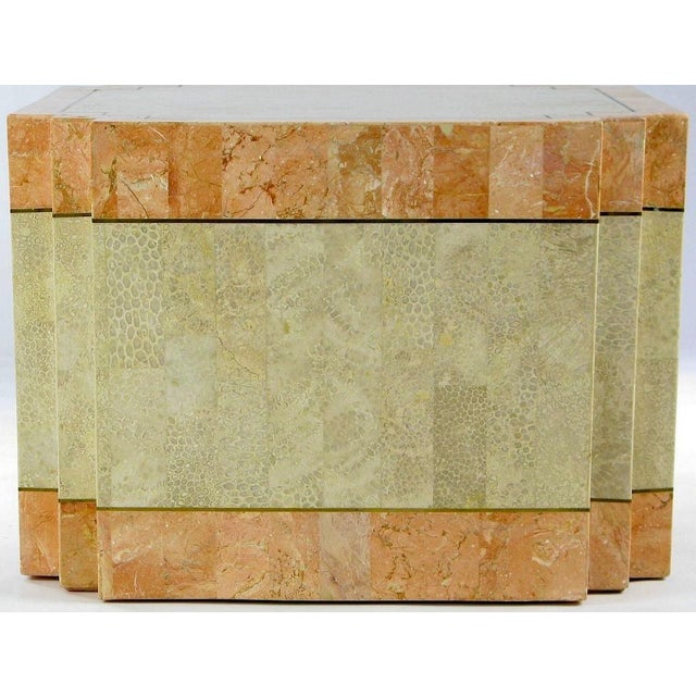 Casa Bique Tessellated Fossil Stone & Marble Coffee Table For Sale - Image 4 of 6