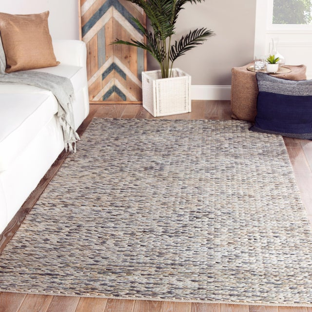 2010s Jaipur Living Calista Natural Blue/ Light Gray Area Rug - 9′ × 12′ For Sale - Image 5 of 6