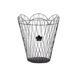 Black Metal Wire Waste Basket