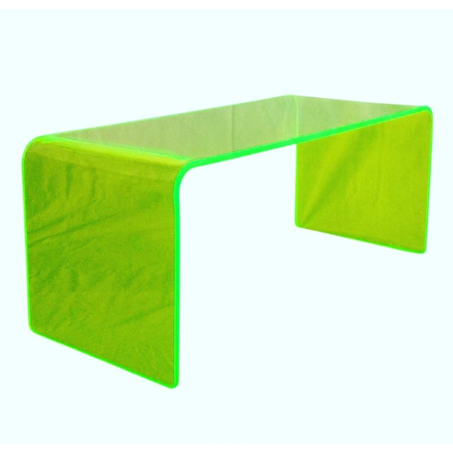 """The Long Game"" Coffee Table in Neon Green For Sale - Image 9 of 11"