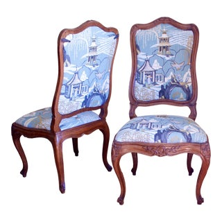 Pair of Finely Carved Italian Rococo Chairs, 18th Century For Sale