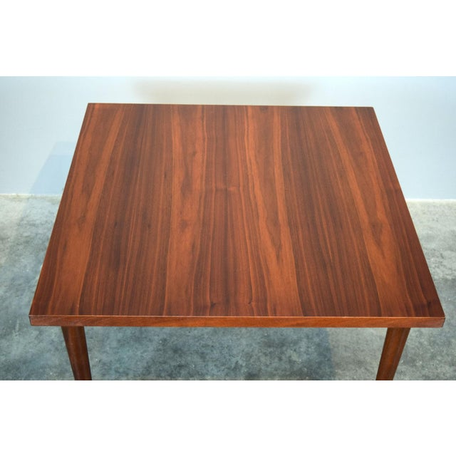 Milo Baughman Mid-Century Walnut Coffee or End Table For Sale - Image 4 of 8