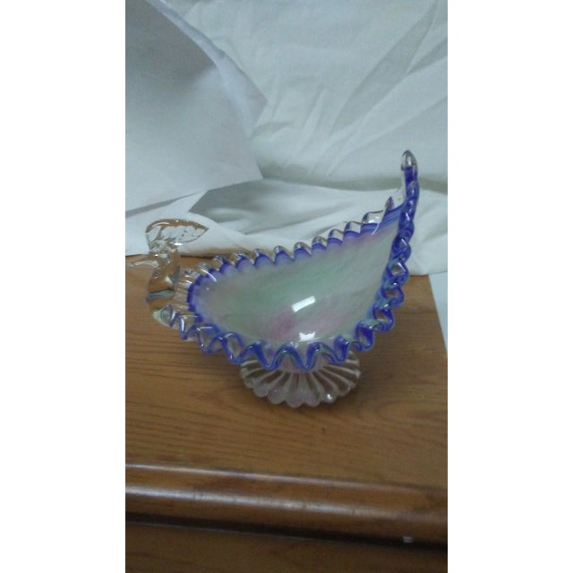 Hand Blown Glass Peacock Dish For Sale In Saint Louis - Image 6 of 6