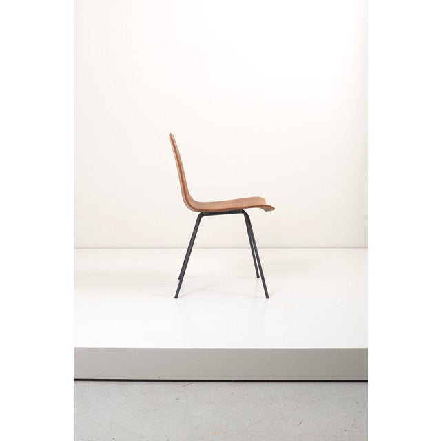 "Mid-Century Modern Set of Eight ""Ga"" Chairs by Hans Bellmann for Horgen-Glarus, Switzerland, 1950s For Sale - Image 3 of 9"