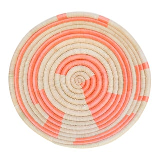 Indego Africa Handwoven Mini Plateau Orange Basket For Sale
