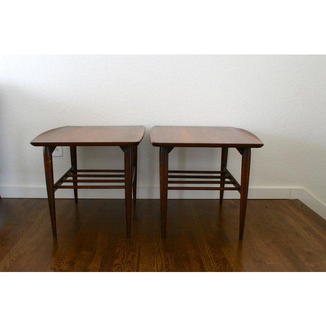 1960s Danish Modern Bassett Surfboard End Tables - a Pair For Sale - Image 12 of 12