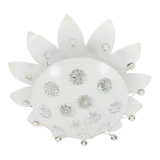 1960s Mid-Century Modern Flower Shape Flush Mount by Emil Stejnar for Rupert Nikoll, Austria For Sale