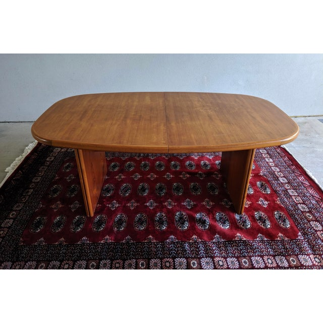 "1970s Danish Modern 110"" Teak Dining Table For Sale - Image 9 of 13"