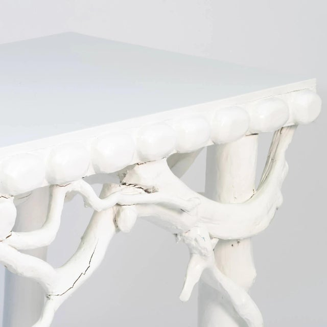 Paint 1990s White Lacquered Root Console For Sale - Image 7 of 12