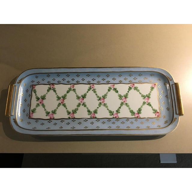 Hand Painted French Porcelain Rectangular Plate - Image 2 of 5