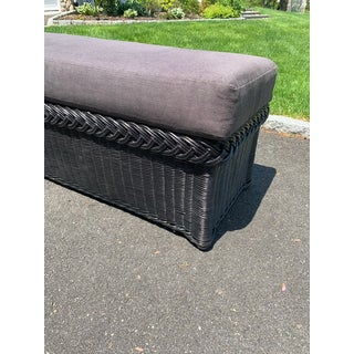 21st Century Vintage Bielecky Brothers Large Wicker Black Bench Preview
