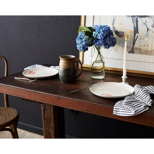 18th Century Rustic Italian Baroque Refectory Trestle Table For Sale - Image 5 of 13