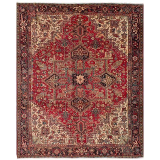 "Heriz Persian Rug, 9'5"" x 11'9"" feet"