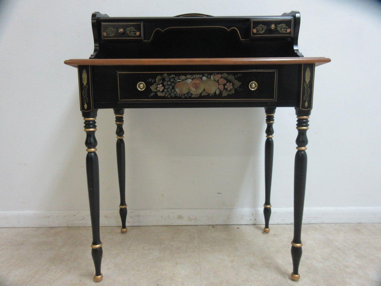 Ethan Allen Hitchcock Paint Decorated Writing Desk  Chairish. Platform Bed Frame With Storage Drawers. Reclaimed Wood Dining Room Tables. Minimal Desk. Hooker Tables. Already Assembled Chest Of Drawers. Target Table Set. Full Size Bed Plans With Drawers. Childs Activity Desk