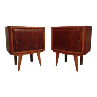 Mid-Century Modern Italian Nightstands - a Pair For Sale