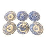 Image of Spode Blue & White Plates - Set of 6 For Sale