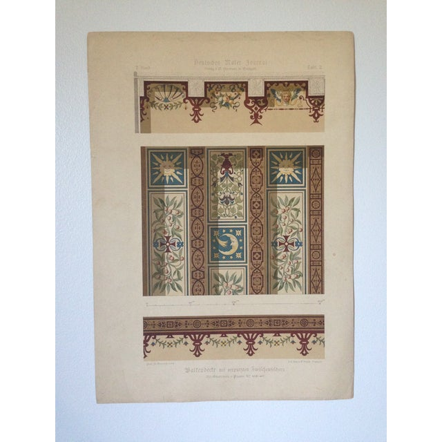 Decorative Ceiling German Chromo Lithograph - Image 2 of 5