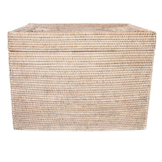 """2010s Artifacts Rattan Rectangular Hinged Chest 28""""x20""""x18"""" For Sale - Image 5 of 5"""