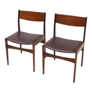 Danish Teak Frem Rojle Chairs- A Pair For Sale