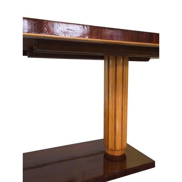 Gilbert Rohde Art Deco Oval Drop-Leaf Desk For Sale - Image 12 of 13