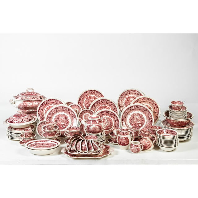 English Red Mason's English Chinaware Svc for 12 People For Sale - Image 3 of 10