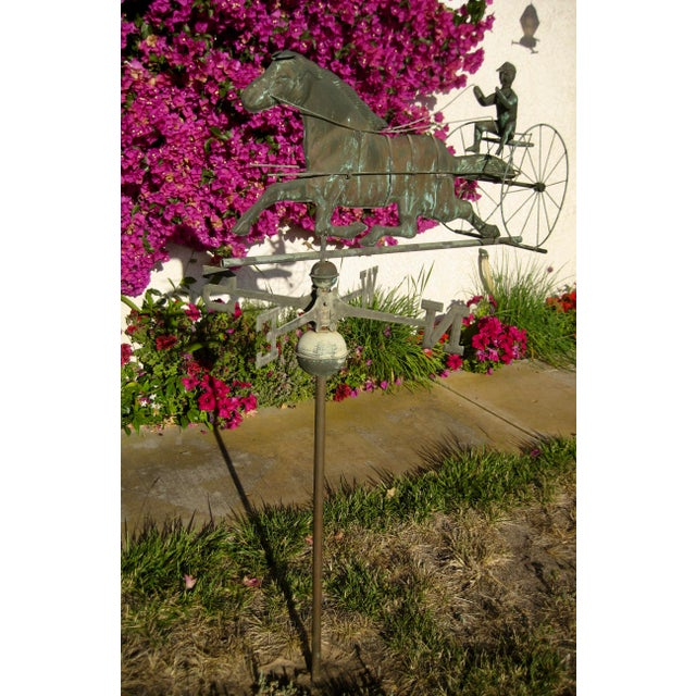 Figurative Vintage Horse and Buggy Coper Weathervane For Sale - Image 3 of 13