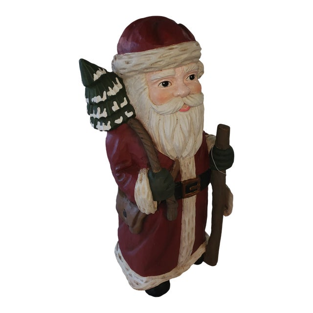 Traditional Holiday Santa With Staff Vintage For Sale