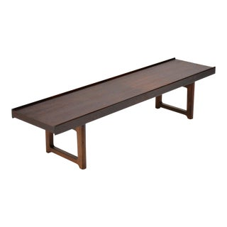 "Rosewood ""Krobo"" Bench by Torbjørn Afdal for Bruksbo Norway For Sale"