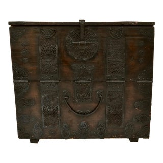 Antique North Korean Wood Blanket Chest Bandaji For Sale