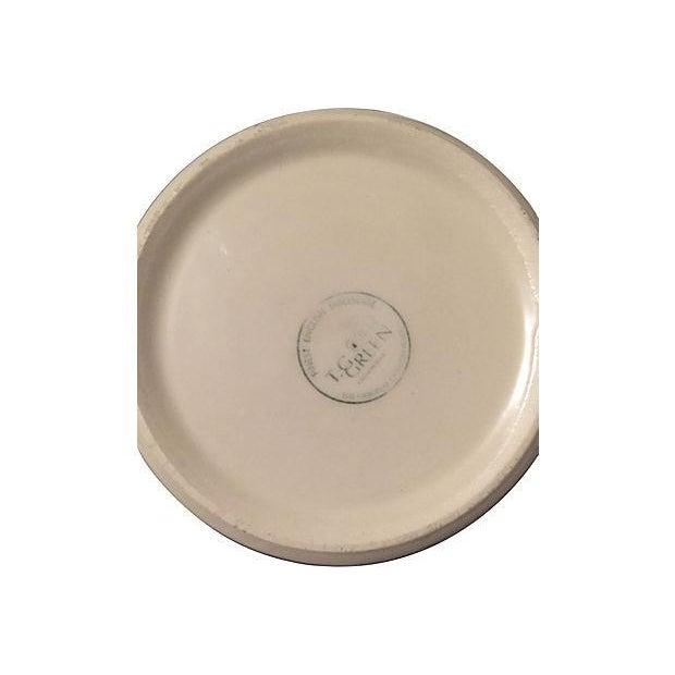 English Cornishware Lidded Butter Tub - Image 2 of 2