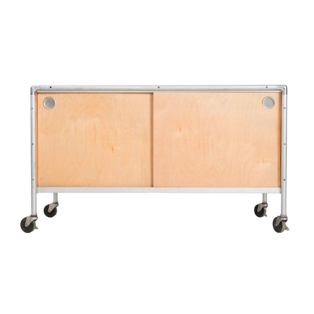 Henry P. Glass Storage Rolling Credenza For Sale - Image 11 of 11