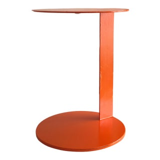 Contemporary Orange Steel Side Table For Sale
