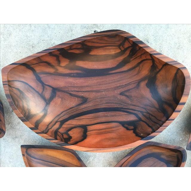 9-Piece Rosewood Salad Bowl Set - Image 3 of 11