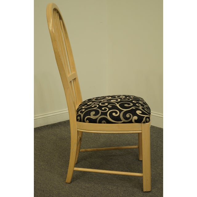 Blue Thomasville Furniture Windrift Collection Dining Side Chair For Sale - Image 8 of 10