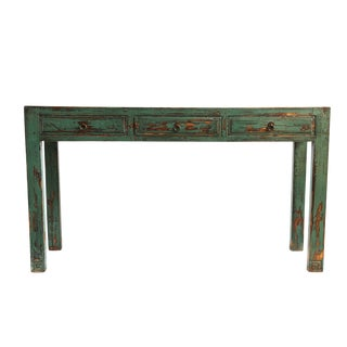 Distressed Console Table For Sale